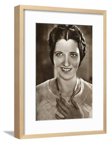 Kay Francis, American Actress, 1933--Framed Art Print