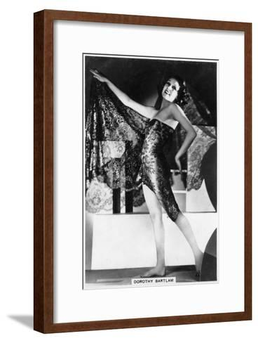 Dorothy Bartlam, British Actress, 1938--Framed Art Print