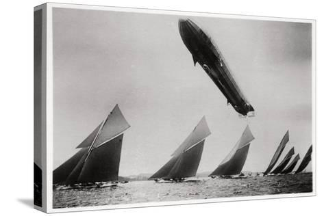Zeppelin LZ11 'Viktoria Luise' in Flight During the Kiel Regatta, Germany, 1912--Stretched Canvas Print