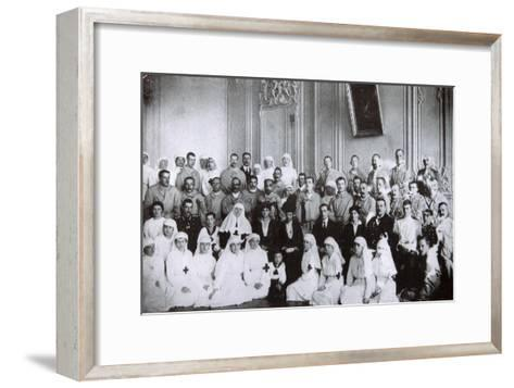 Tsarina Maria Fyodorovna of Russia Visiting a Hospital in Kiev, 1915--Framed Art Print