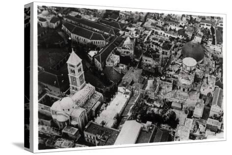 Aerial View of the Church of the Holy Sepulchre, Jerusalem, Palestine, from a Zeppelin, 1931--Stretched Canvas Print