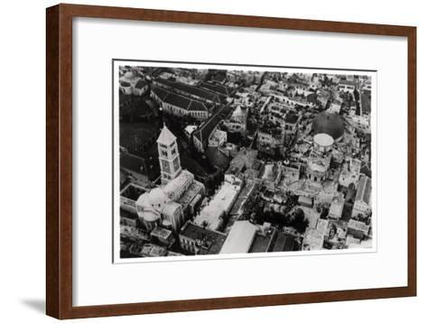 Aerial View of the Church of the Holy Sepulchre, Jerusalem, Palestine, from a Zeppelin, 1931--Framed Art Print