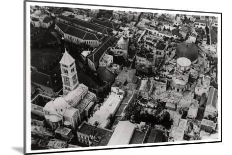 Aerial View of the Church of the Holy Sepulchre, Jerusalem, Palestine, from a Zeppelin, 1931--Mounted Giclee Print