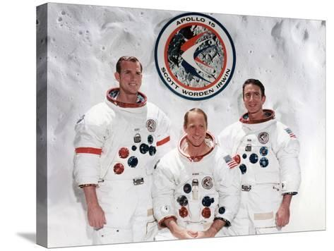 The Crew of the Apollo 15 Mission at the Manned Spacecraft Centre, Houston, Texas, 1971--Stretched Canvas Print