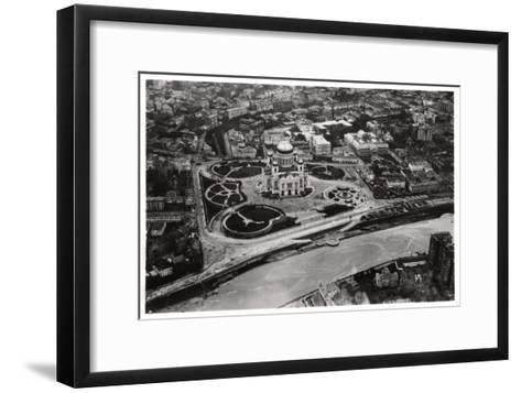Aerial View of the Cathedral of Christ the Saviour, Moscow, USSR, from a Zeppelin, 1930--Framed Art Print
