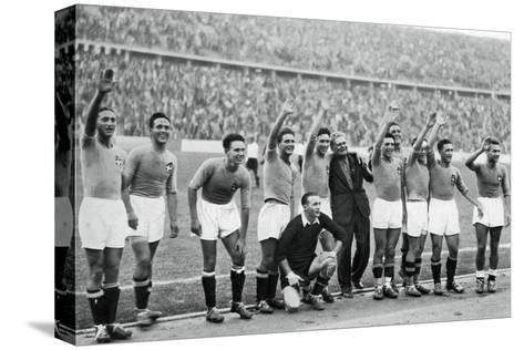 Italian National Football Team, Berlin Olympics, 1936--Stretched Canvas Print