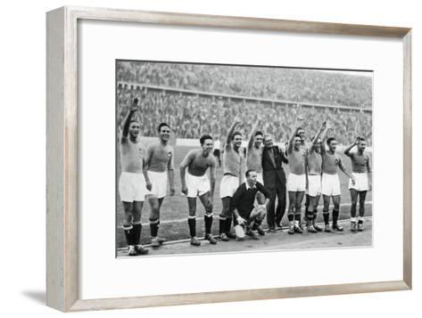 Italian National Football Team, Berlin Olympics, 1936--Framed Art Print