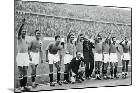 Italian National Football Team, Berlin Olympics, 1936--Mounted Giclee Print