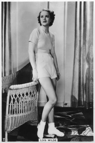 Lois Wilde, American Actress, C1938--Stretched Canvas Print