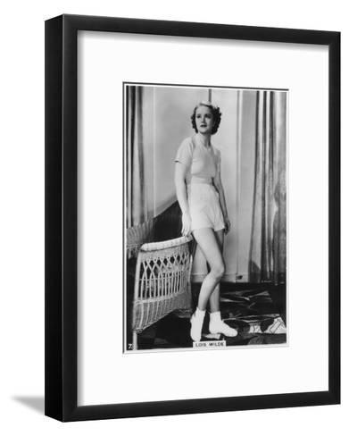 Lois Wilde, American Actress, C1938--Framed Art Print