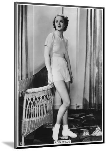 Lois Wilde, American Actress, C1938--Mounted Giclee Print