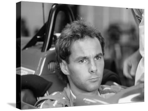 Gehard Berger with Ferrari, 1988--Stretched Canvas Print