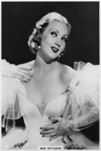 Ann Sothern, American Film and Television Actress, C1938--Stretched Canvas Print