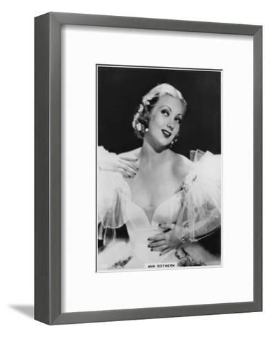 Ann Sothern, American Film and Television Actress, C1938--Framed Art Print