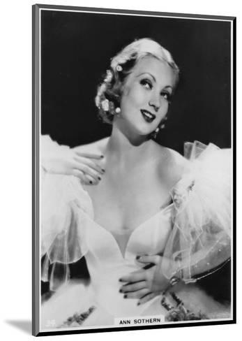 Ann Sothern, American Film and Television Actress, C1938--Mounted Giclee Print