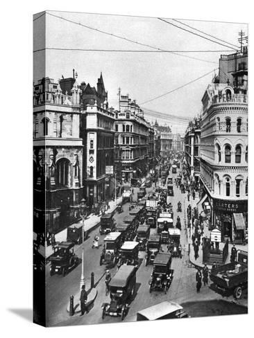 Queen Victoria Street at its Intersection with Cannon Street, London, 1926-1927- Frith-Stretched Canvas Print
