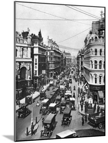 Queen Victoria Street at its Intersection with Cannon Street, London, 1926-1927- Frith-Mounted Giclee Print