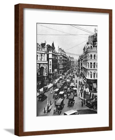 Queen Victoria Street at its Intersection with Cannon Street, London, 1926-1927- Frith-Framed Art Print