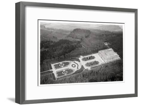 Aerial View of the Herrenchiemsee Palace, Bavaria, Germany, from a Zeppelin, C1931--Framed Art Print