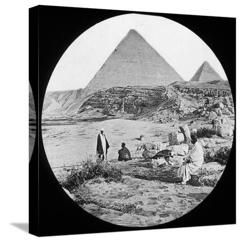 The Great Pyramids, Giza, Egypt, C1890-Newton & Co-Stretched Canvas Print