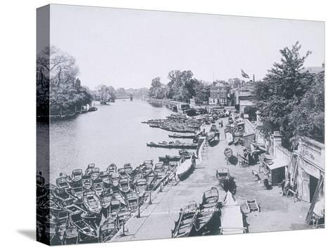 View of the River Thames and Boats, C1900--Stretched Canvas Print