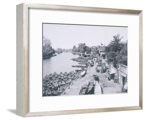 View of the River Thames and Boats, C1900--Framed Art Print