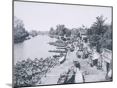 View of the River Thames and Boats, C1900--Mounted Giclee Print