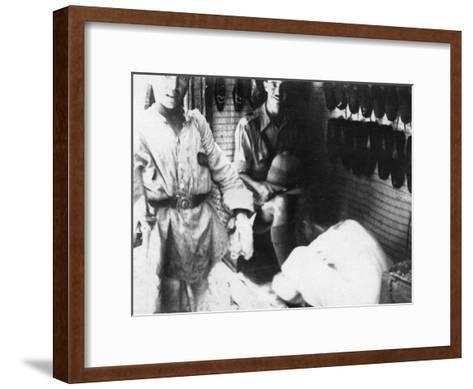 A British Officer in a Shoe Shop, Baghdad, Mesopotamia, WWI, 1918--Framed Art Print