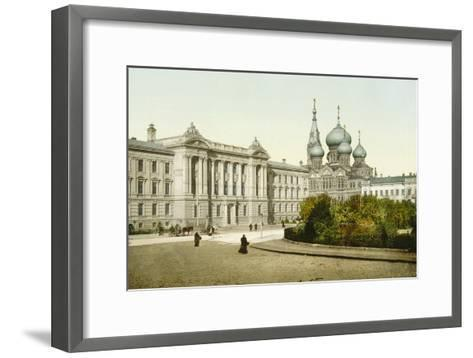 Palace of Justice and Church of St Panteleimon Monastery, Odessa, Russia, C1880S-C1890S--Framed Art Print
