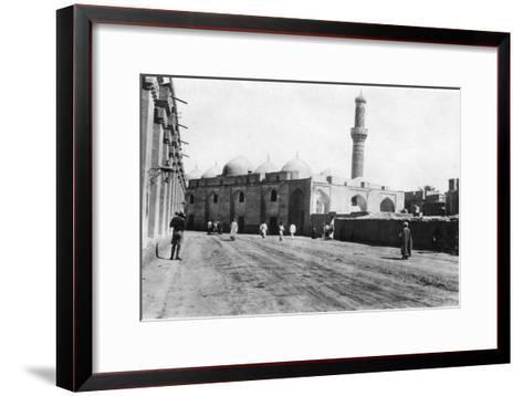 Mosque on River Street, Baghdad, Mesopotamia, Wwi, 1918--Framed Art Print