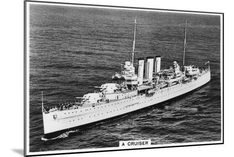 Heavy Cruiser HMS Devonshire, 1937--Mounted Giclee Print