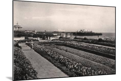 Floral Gardens and the West Pier, Brighton, Sussex, 1938--Mounted Giclee Print