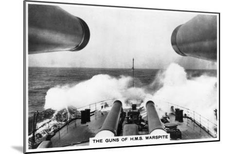 The Guns of the Battleship HMS Warspite, 1937--Mounted Giclee Print
