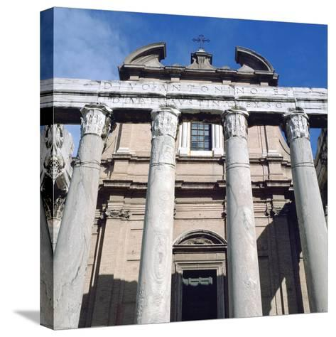 The Temple of Antoninus and Faustina, Rome--Stretched Canvas Print