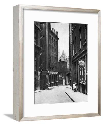 From the Old Bailey Looking Down the Hill of Fleet Lane, London, 1926-1927--Framed Art Print