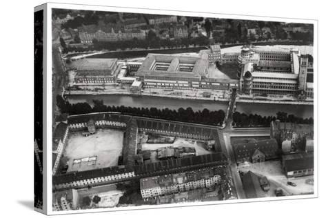 Aerial View of the Deutsches Museum, Munich, Germany, from a Zeppelin, C1931--Stretched Canvas Print