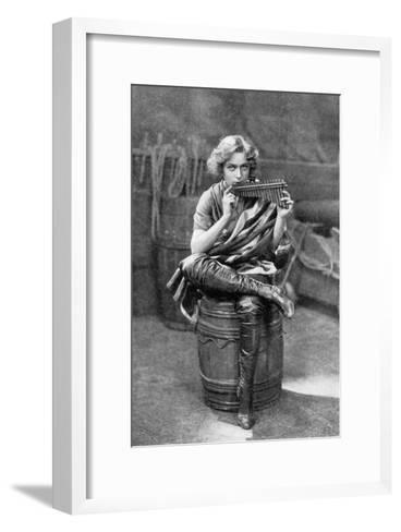 Pauline Chase as Peter Pan, 1908-1909-Alfred & Walery Ellis-Framed Art Print