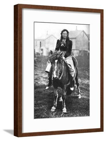 A Milkmaid on Her Morning Round, Iceland, 1922--Framed Art Print