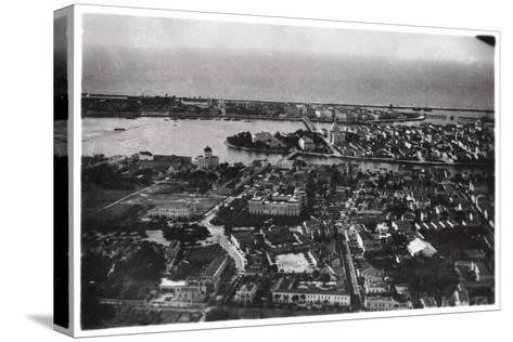 Aerial View of Recife, Brazil, from a Zeppelin, 1930--Stretched Canvas Print