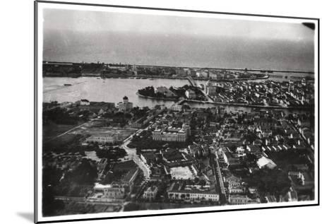 Aerial View of Recife, Brazil, from a Zeppelin, 1930--Mounted Giclee Print