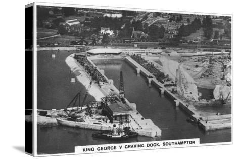King George V Graving Dock, Southhampton, 1936--Stretched Canvas Print