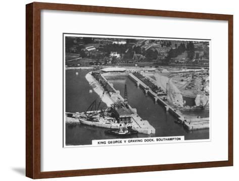 King George V Graving Dock, Southhampton, 1936--Framed Art Print