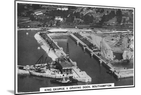 King George V Graving Dock, Southhampton, 1936--Mounted Giclee Print