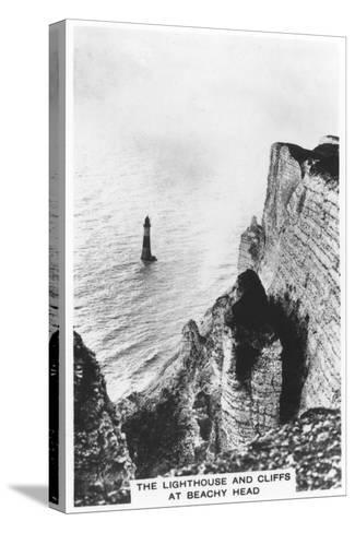 The Lighthouse and Cliffs at Beachy Head, 1936--Stretched Canvas Print
