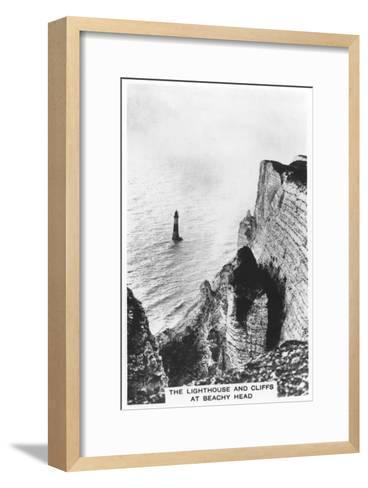 The Lighthouse and Cliffs at Beachy Head, 1936--Framed Art Print