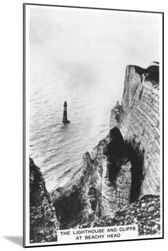 The Lighthouse and Cliffs at Beachy Head, 1936--Mounted Giclee Print
