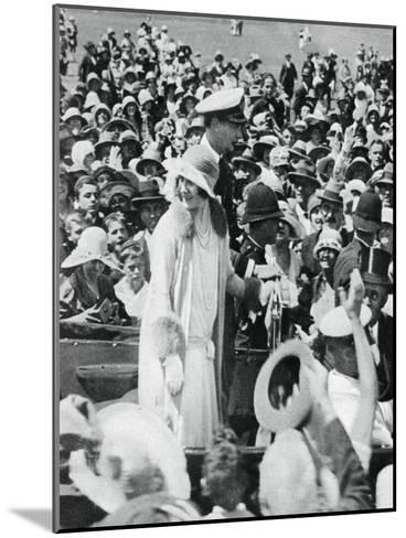 The Duke and Duchess Mobbed by Crowds in Auckland, 1927--Mounted Giclee Print