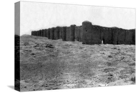 City Walls, Samarra, Mesopotamia, 1918--Stretched Canvas Print