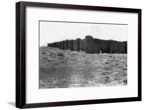 City Walls, Samarra, Mesopotamia, 1918--Framed Art Print