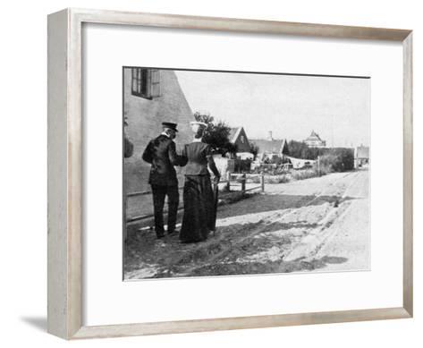 Landing at Skagen, Denmark, 1908--Framed Art Print